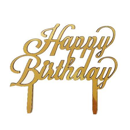 تاپر کیک و گل Happy Birthday