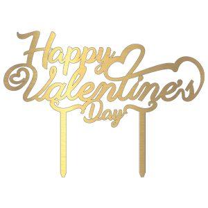 تاپر کیک و گل Happy valentine day