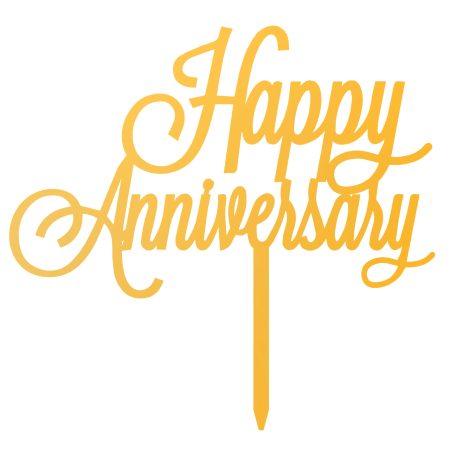 تاپر کیک و گل Happy Anniversary